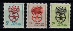 Papua New Guinea 1962 Malaria set SG 33-35  MNH