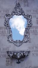 Set blanc noir Miroir mural dépôt CONSOLE CONSOLE MURALE 50X76 ANTIQUE BAROQUE