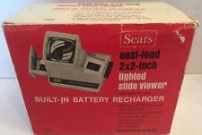 "Vintage Sears Easi-Load 2 X 2"" Lighted Slide Viewer Built-In Battery Recharger"