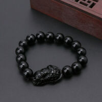 Hot Good Luck Feng Shui Obsidian Stone Wealth Pi Xiu Bracelet Attract Wealth New