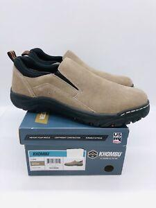 Khombu Men's Liam Slip On Casual Shoes Brown Suede- Pick Size