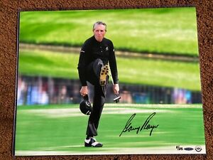 "Upper Deck UDA Gary Player Autographed ""The Kick"" 16 x 20 Photograph Golf Tiger"