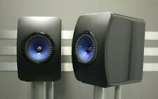 KEF LS50 Wireless Speakers in Gloss Black/Blue - Preowned