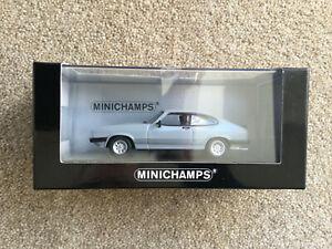 Minichamps - 1982 Ford Capri Mk III in Ice Grey - 1 of 1008 pcs - Mint in box