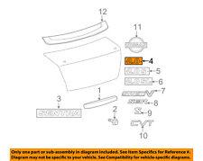 NISSAN OEM 09-12 Sentra Trunk Lid-Emblem Badge Nameplate 84896ZJ60A
