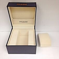 MULCO Authentic Black Watch Box Case with Pillow Holder