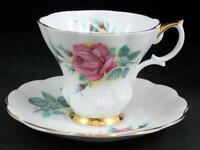 Royal Albert Novio Rosas Taza y Platillo Elizabeth Hueso China Estado Excelente