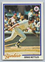 1978  GRAIG NETTLES - Topps Baseball Card # 250 - NEW YORK YANKEES