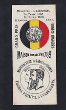 Ancienne  lytho  Bague  Cigare Vitola BN118971 Tabac Belgique