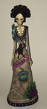 "18"" Tall Frida Kahlo Dia De Los Muertos Pottery Skeleton Statue"