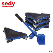 5 pcs Furniture Lifter Moves Wheels Mover Sliders Kit Home Moving Lifting System