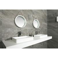 Grey Matt Porcelain Marble Effect Wall Floor Tiles Bathroom 60x30cm Priced m2.