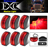 6x 12V-24V SMD 2LED Red Rear Side Marker Lights Position for Truck Trailer Lorry