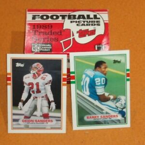 1989 Topps Traded Series NFL Football Cards Complete Set Box