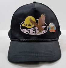 Alaska Bald Eagle Black Tourist Baseball Cap Truckers Hat Adjustable w/Pin