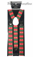 Suspender Adults Men Christmas Novelty Reindeer Wedding Formal Wear Accessories