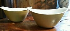 Set/2 Vintage 16oz CEREAL/ICE CREAM BOWLS Avocado Green