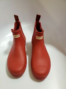 Hunter Rainboots Chelsea Ankle Size 10 Red
