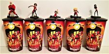 Disney: Incredibles 2 Movie Theater Exclusive Cup Topper Set With 44 oz Cups