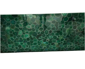 "96"" x 48"" Green Agate Table Top Counter top semi precious stones marquetry decor"