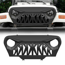 Matte Black Front Grill Shark Grille Guard for 1997-2006 Jeep Wrangler TJ ABS