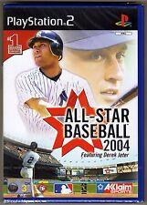 Ps2 All Star Baseball 2004 ( 2003 ) UK PAL & Sony Factory