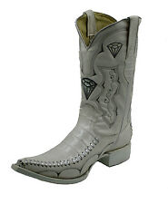 Men's Assorted Colors Leather Crocodile Print 3x Cowboy Boots Style-WD1342