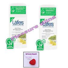 Lafe's Natural Deodorant Stick EXTRA STRENGTH (2 Pack) & Rhinestone Heart