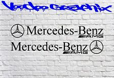 AMG Mercedes Benz Car VINYL STICKERS Bumper Windshield BANNER JDM DECALS X2