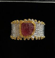 Fine Ruby Dress Ring 925 (Sterling) Silver - Size P 1/2