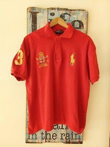 Vintage Ralph Lauren Polo Men Red Short Sleeve Top Shirt Size XL