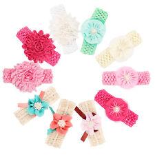10pcs/lot Girls  Baby Toddle Children Infant Kids Headband Chiffon Pearl Flower