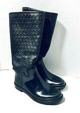 Michael Kors Black Rain Boots Lined Womens 6
