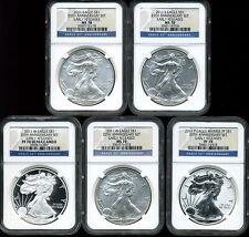 2011 $1 Silver American Eagle 25th Anniversary Set MS70 PF70 NGC  3559375-118