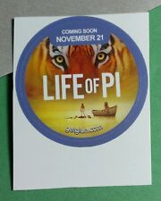 LIFE OF PI STANDING ON RAFT WITH TIGER BOAT FACE EYES GET GLUE STICKER