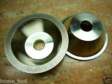 """4"""" inch 100mm THK Diamond coated CONCAVE Grit 300 grinding wheel bench grinder"""