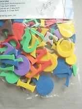 Crea-Soft Buchstabenmix verschiedene Farben, 48-teilig, ca. 2,1 cm hoch