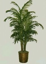 8' DOUBLE ARECA PALM ARTIFICIAL SILK TREE PLANT IN BASKET BUSH PATIO BUSH HOME