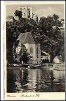 PASSAU Bayern um 1940 Partie am Oberhaus Verlag M. Waldbauer Ansichtskarte