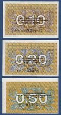 LITAUEN / LITHUANIA Set 1991 UNC P. 29b, 30, 31b