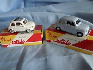 Collection - Lot de 2 voitures miniatures - FIAT 600D / FIAT 500 SOLIDO