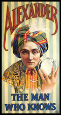 Magic Alexander The Man Who Knows Crystal Ball Magician Vintage Poster Repro