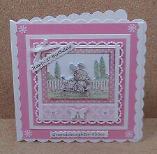 Personalised Cute Birthday Card Daughter Granddaughter... 1st 2nd 3rd.. & Verses