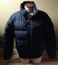 Scotch and Soda Amsterdam Couture Down Puffer Jacket Blue Plaid Mens Sz M
