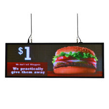 """39""""x14"""" programmable LED Sign Store Window  Display Images Thumb Drive Upload"""