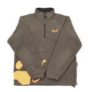 JACK WOLFSKIN Nanuk 1/4 Zip Fleece | Small | Hiking Walking Thick Pullover
