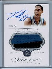 2013-14 Flawless Kevin Martin Game Worn Patch Auto 9/25 Spurs
