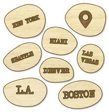 American Crafts Studio Calico - Wood Veneer That-a-way Cities