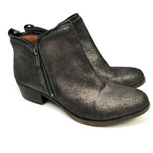 Lucky Brand Women's Ankle Booties Metallic Size 10 EUC Zipper