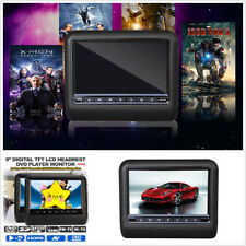 Pair 9 inch Digital Screen Car DVD Player LCD Headrest Monitor USB SD HDMI Games
